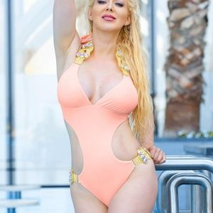Emma One-Piece Swimsuit - Peach